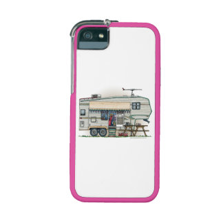 Cute RV Vintage Fifth Wheel Camper Travel Trailer iPhone 5 Cover
