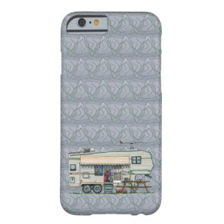 Cute RV Vintage Fifth Wheel Camper Travel Trailer Case-Mate iPhone Case