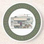 Cute RV Vintage Fifth Wheel Camper Travel Trailer Beverage Coaster