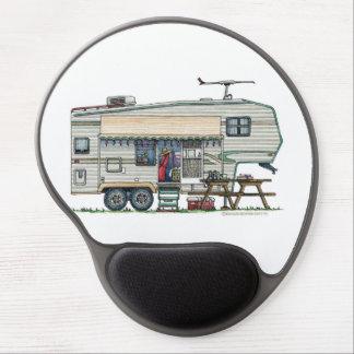Cute RV Vintage Fifth Wheel Camper Travel Trailer Gel Mouse Pad