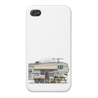 Cute RV Vintage Fifth Wheel Camper Travel Trailer iPhone 4/4S Covers