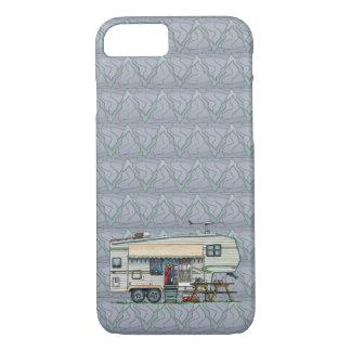 Cute RV Vintage Fifth Wheel Camper Travel Trailer iPhone 7 Case