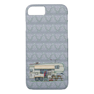 Cute RV Vintage Fifth Wheel Camper Travel Trailer iPhone 8/7 Case