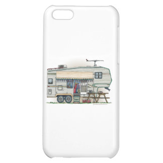 Cute RV Vintage Fifth Wheel Camper Travel Trailer Case For iPhone 5C