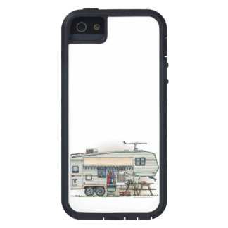 Cute RV Vintage Fifth Wheel Camper Travel Trailer iPhone SE/5/5s Case