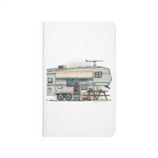 Cute RV Vintage Fifth Wheel Camper Travel Trailer Journal