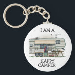 """Cute RV Vintage Fifth Wheel Camper Travel Trailer Keychain<br><div class=""""desc"""">Memories of camping last a lifetime! And so do those memories of your fifth wheel camper. These whimsical fifth wheel camper key chains are as cute as they can be:) This fifth wheel vintage camping trailer was designed by artist Richard Neuman. His uniquely styled vintage trailers artwork is collected worldwide....</div>"""