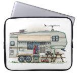 Cute RV Vintage Fifth Wheel Camper Travel Trailer Laptop Sleeve