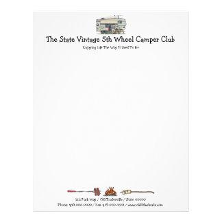 Cute RV Vintage Fifth Wheel Camper Travel Trailer Custom Letterhead
