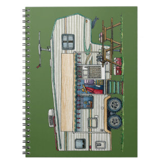 Cute RV Vintage Fifth Wheel Camper Travel Trailer Note Book