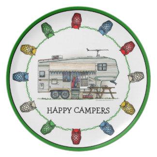 Cute RV Vintage Fifth Wheel Camper Travel Trailer Plate