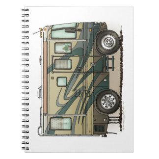 Cute RV Vintage Fifth Wheel Camper Travel Trailer Spiral Notebook