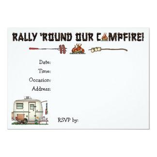 Cute RV Vintage Glass Egg Camper Travel Trailer 5x7 Paper Invitation Card