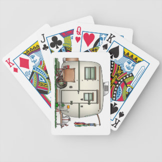 Cute RV Vintage Glass Egg Camper Travel Trailer Bicycle Playing Cards