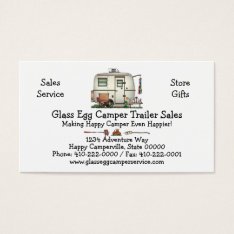 Cute Rv Vintage Glass Egg Camper Travel Trailer Business Card at Zazzle