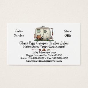Rv business cards templates zazzle cute rv vintage glass egg camper travel trailer business card colourmoves
