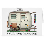Cute RV Vintage Glass Egg Camper Travel Trailer Greeting Card