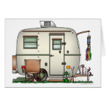 Cute RV Vintage Glass Egg Camper Travel Trailer Greeting Cards