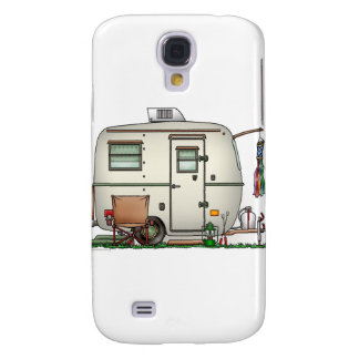 Cute RV Vintage Glass Egg Camper Travel Trailer Samsung Galaxy S4 Cases