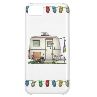 Cute RV Vintage Glass Egg Camper Travel Trailer Case For iPhone 5C