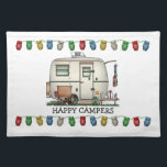 "Cute RV Vintage Glass Egg Camper Travel Trailer Cloth Placemat<br><div class=""desc"">Memories of camping last a lifetime! And so do those memories of your glass egg camper. These whimsical glass egg camper placemats are as cute as they can be:) This glass egg vintage camping trailer was designed by artist Richard Neuman. His uniquely styled vintage trailers artwork is collected worldwide. You...</div>"