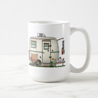 Cute RV Vintage Glass Egg Camper Travel Trailer Coffee Mug