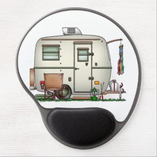 Cute RV Vintage Glass Egg Camper Travel Trailer Gel Mousepads