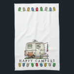 "Cute RV Vintage Glass Egg Camper Travel Trailer Hand Towel<br><div class=""desc"">Memories of camping last a lifetime! And so do those memories of your glass egg camper. These whimsical glass egg camper kitchen towels are as cute as they can be:) This glass egg vintage camping trailer was designed by artist Richard Neuman. His uniquely styled vintage trailers artwork is collected worldwide....</div>"