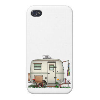 Cute RV Vintage Glass Egg Camper Travel Trailer iPhone 4 Case