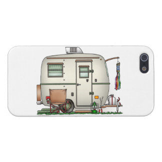 Cute RV Vintage Glass Egg Camper Travel Trailer iPhone SE/5/5s Cover