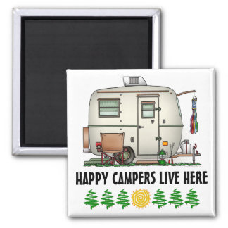Cute RV Vintage Glass Egg Camper Travel Trailer Magnet