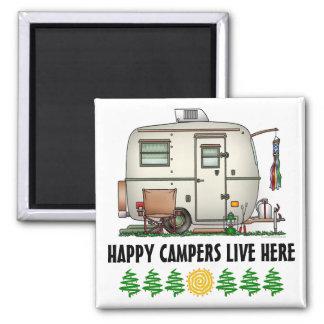 Cute RV Vintage Glass Egg Camper Travel Trailer Magnet