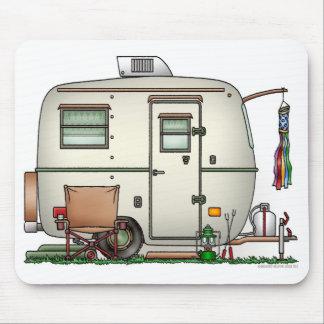 Cute RV Vintage Glass Egg Camper Travel Trailer Mouse Pad
