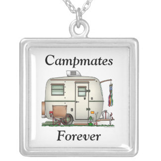 Cute RV Vintage Glass Egg Camper Travel Trailer Custom Jewelry