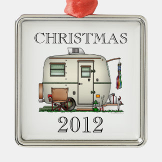 Cute RV Vintage Glass Egg Camper Travel Trailer Christmas Ornaments