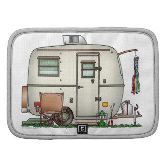 Cute RV Vintage Glass Egg Camper Travel Trailer Organizer