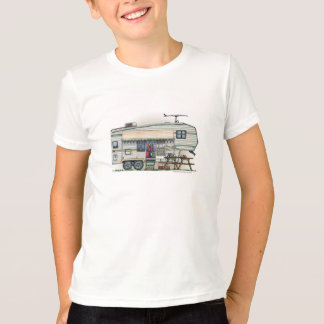 Cute RV Vintage Glass Egg Camper Travel Trailer T-Shirt