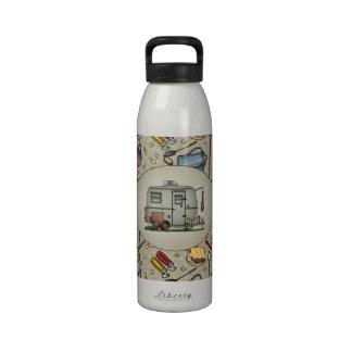 Cute RV Vintage Glass Egg Camper Travel Trailer Drinking Bottles