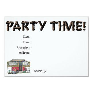 Cute RV Vintage Popup Camper Travel Trailer 5x7 Paper Invitation Card