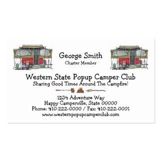 Cute RV Vintage Popup Camper Travel Trailer Business Cards