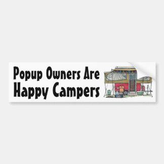 Cute RV Vintage Popup Camper Travel Trailer Car Bumper Sticker