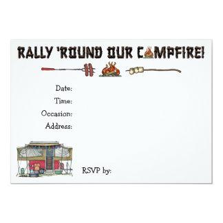 Cute RV Vintage Popup Camper Travel Trailer Card