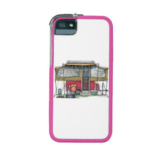Cute RV Vintage Popup Camper Travel Trailer iPhone 5/5S Covers