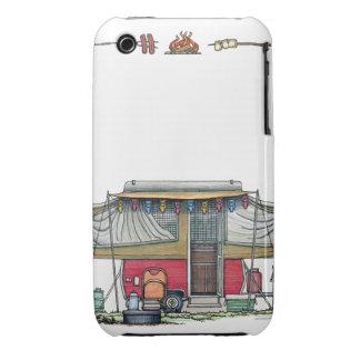 Cute RV Vintage Popup Camper Travel Trailer Case-Mate iPhone 3 Cases
