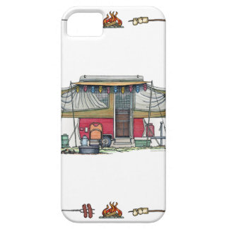 Cute RV Vintage Popup Camper Travel Trailer iPhone 5 Cover