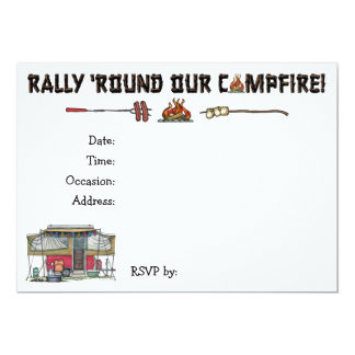 Cute RV Vintage Popup Camper Travel Trailer 5x7 Paper Invitation Card