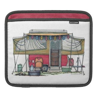Cute RV Vintage Popup Camper Travel Trailer iPad Sleeves