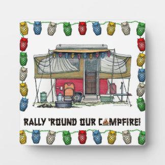 Cute RV Vintage Popup Camper Travel Trailer Plaque