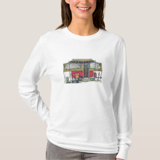 Cute RV Vintage Popup Camper Travel Trailer T-Shirt