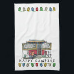 """Cute RV Vintage Popup Camper Travel Trailer Towel<br><div class=""""desc"""">Memories of camping last a lifetime! And so do those memories of your pop up camper. These whimsical pop up camper kitchen towels are as cute as they can be:) This popup vintage camping trailer was designed by artist Richard Neuman. His uniquely styled vintage trailers artwork is collected worldwide. You...</div>"""